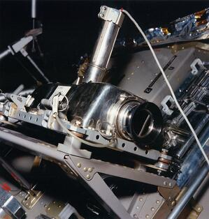 The camera mounted on the Lunar Module.